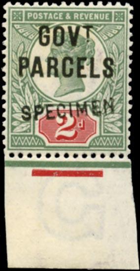GB 1891  SGO70s Official (Govt. Parcels)