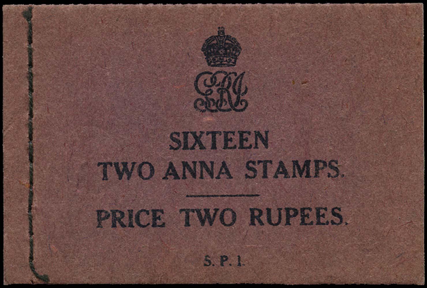 INDIA 1929  SGSB19ba Booklet