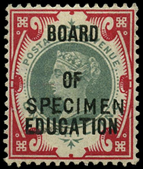 GB 1902  SGO82s Official - SPECIMEN type 15