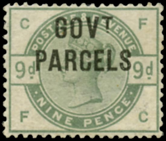 GB 1883  SGO63 Official (Govt. Parcels) unused o.g.