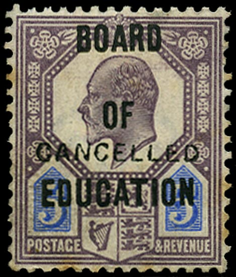 GB 1902  SGO86var Official - CANCELLED type 18