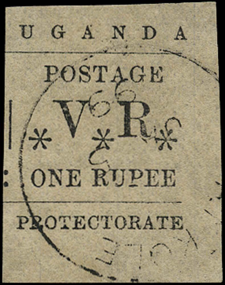 UGANDA 1896  SG60 Used Typeset 1r black cancelled Akole