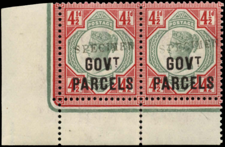 GB 1891  SGO71s Official (Govt. Parcels) pair