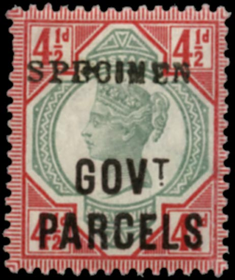 GB 1891  SGO71s Official (Govt. Parcels)