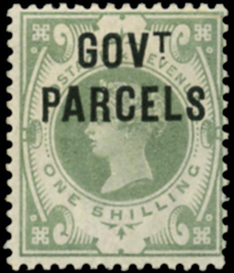 GB 1890  SGO68d Official (Govt. Parcels) unused example Blue-black