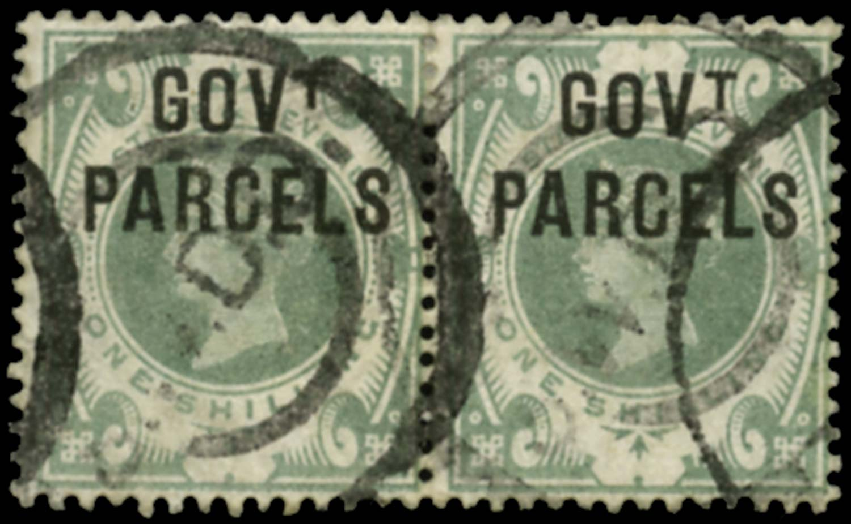 GB 1890  SGO68a Official (Govt. Parcels) No dot under