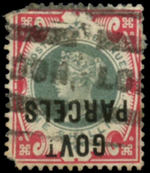GB 1900  SGO72a Official (Govt. Parcels) overprint inverted