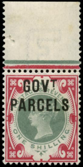 GB 1900  SGO72a Official (Govt. Parcels) unmounted o.g.
