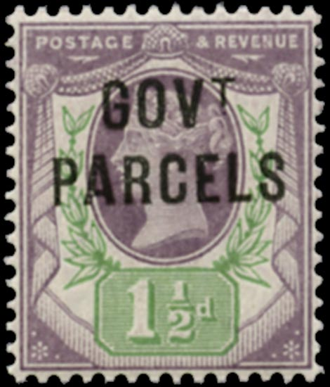 GB 1887  SGO65 Official (Govt. Parcels) unmounted o.g. example