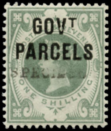 GB 1890  SGO68s Official (Govt. Parcels)