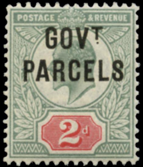 GB 1902  SGO75 Official (Govt. Parcels) U/M example