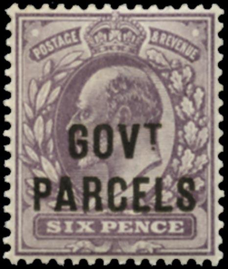 GB 1902  SGO76 Official (Govt. Parcels) M/M example
