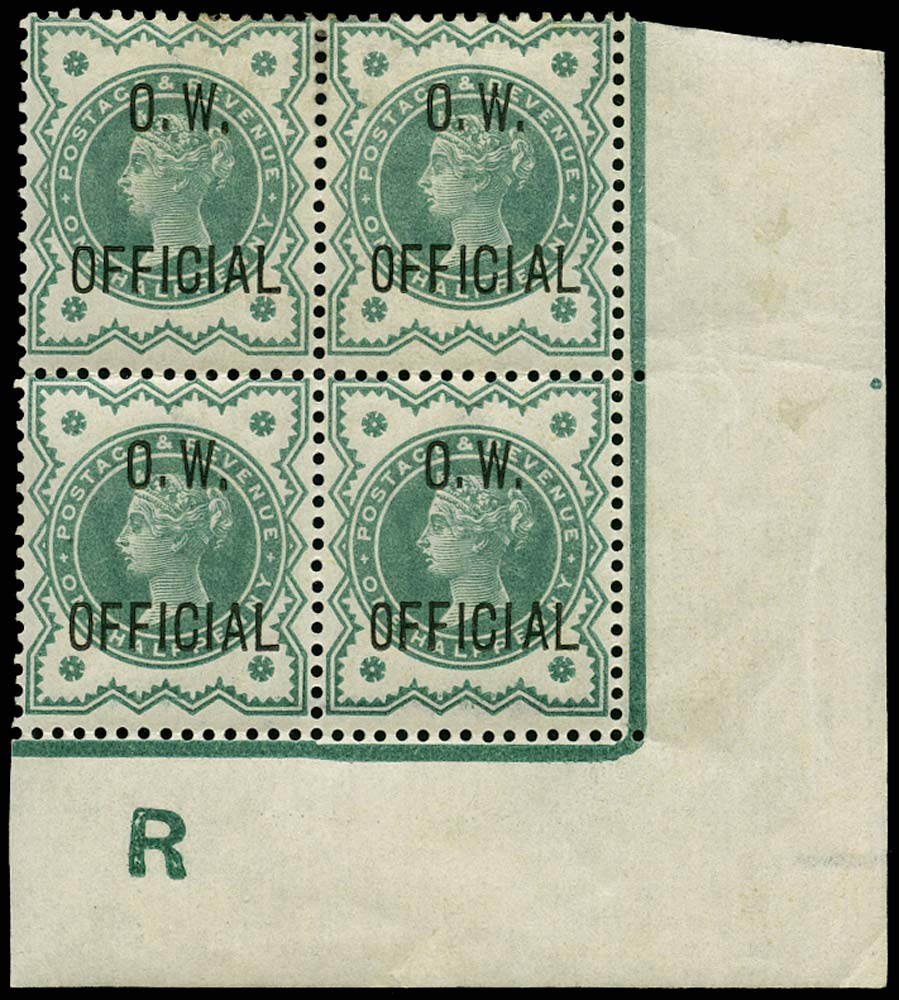 GB 1902  SGO32 Official Unmounted o.g. ex DLR archives