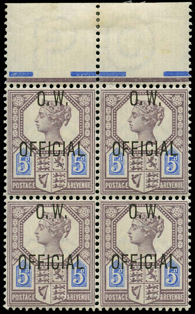 GB 1902  SGO34 Official Unmounted o.g. ex DLR archives