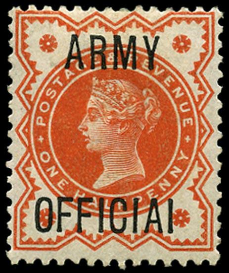 GB 1896  SGO41a Official Unused