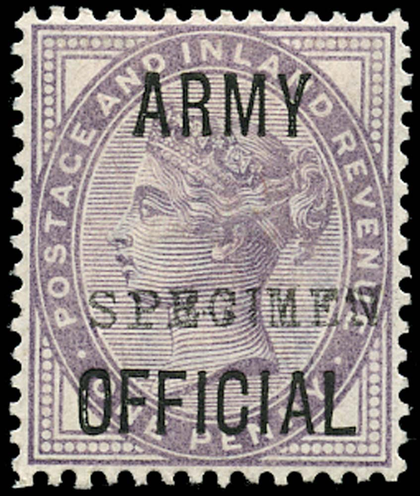 GB 1896  SGO43s Official (Army Official)