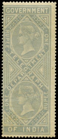 INDIA 1869  SGT8 Telegraph Die I