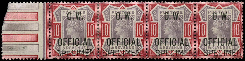 GB 1902  SGO35 Official - SPECIMEN type 16
