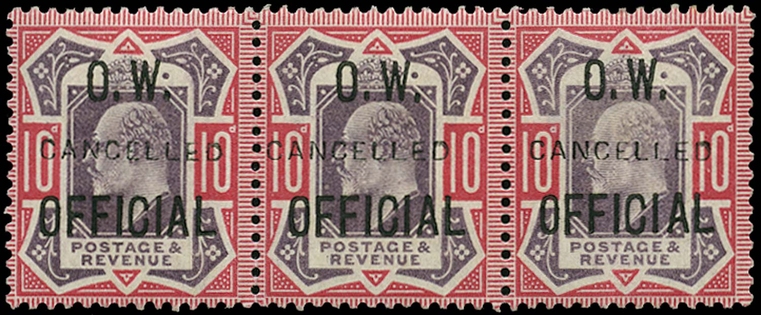GB 1903  SGO40var Official - CANCELLED type 18