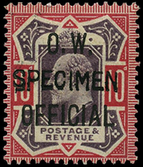 GB 1903  SGO40s Official - SPECIMEN type 16