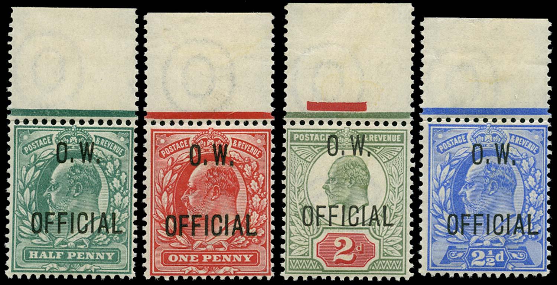 GB 1902  SGO36,O37,O38,O39 Official - unmounted mint