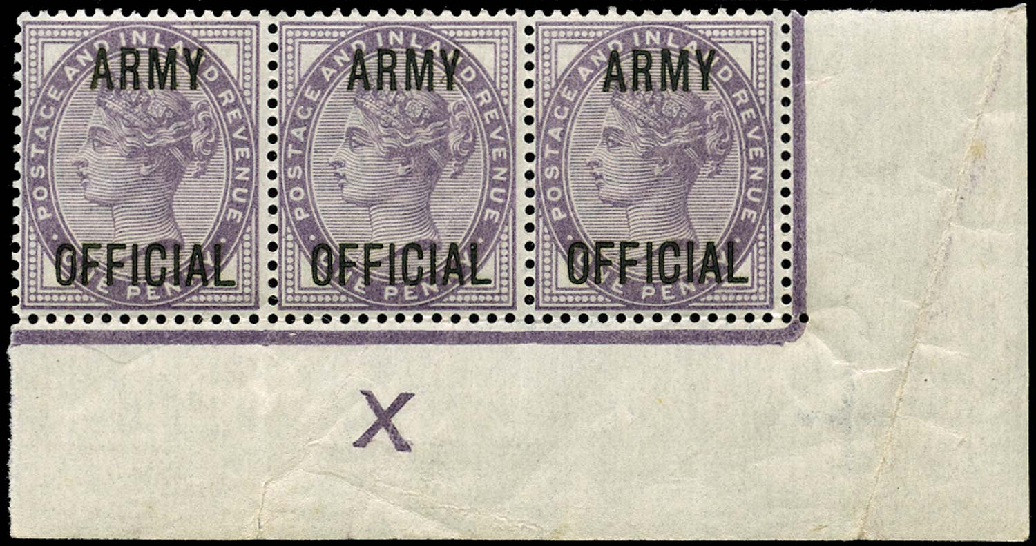 GB 1896  SGO43 Official (Army Official)