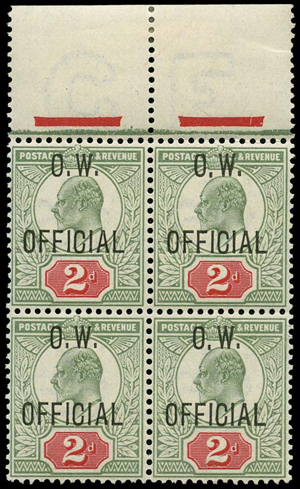 GB 1902  SGO38 Official - unmounted mint