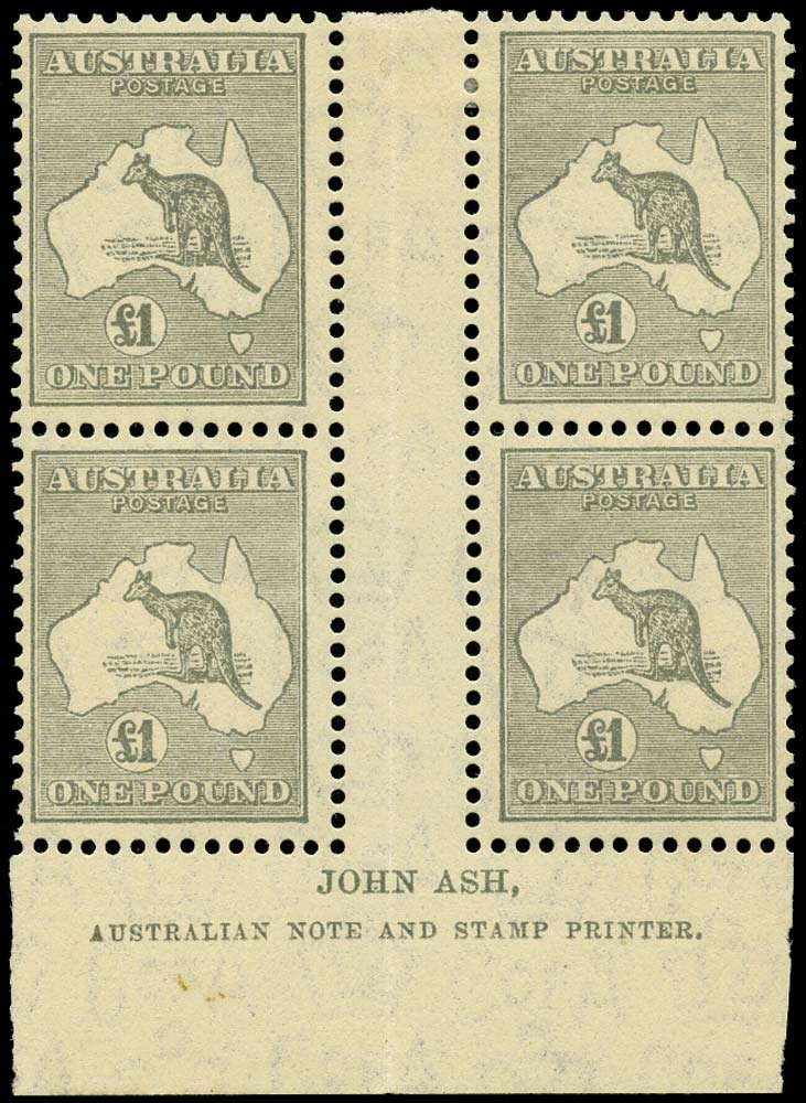 AUSTRALIA 1931  SG137 Mint £1 Kangaroo and Map C of A wmk Ash imprint