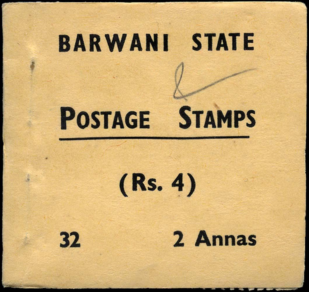 I.F.S. BARWANI 1941  SGSB4 Booklet 4r black on buff