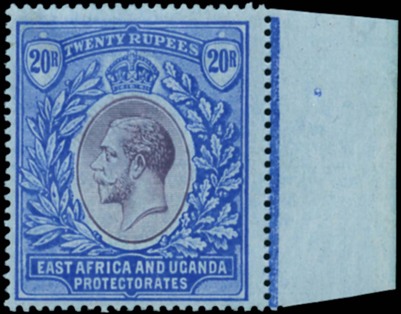 KUT 1912  SG60 Mint 20r purple and blue on blue watermark MCA