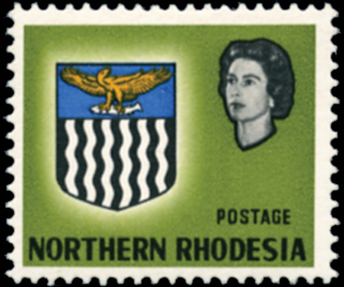 NORTHERN RHODESIA 1963  SG80a Used Arms 6d error value omitted