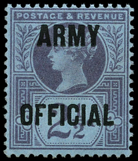 GB 1896  SGO44 Official (Army Official) U/M