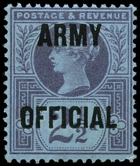 GB 1896  SGO44 Official (Army Official) U/M