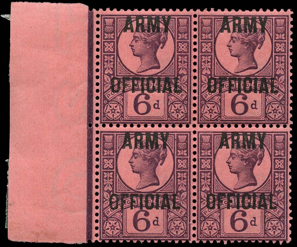 GB 1901  SGO45 Official (Army Official) U/M block