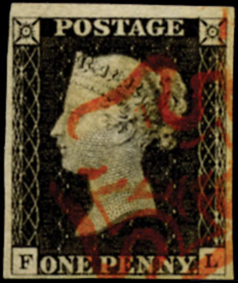 GB 1840  SG3 Pl.3 Penny Black