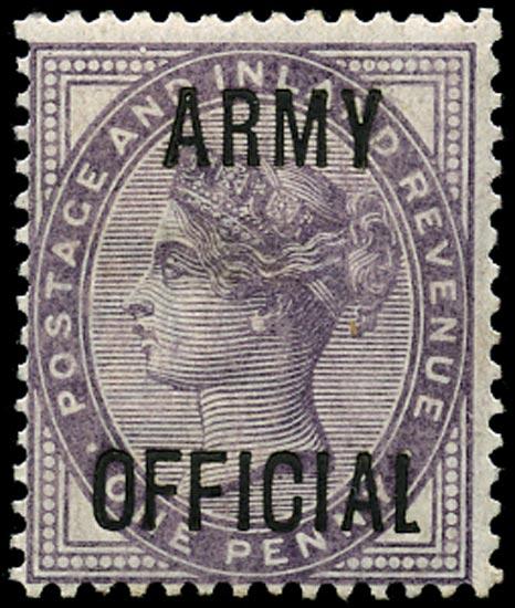 GB 1896  SGO43var Official (Army Official) short