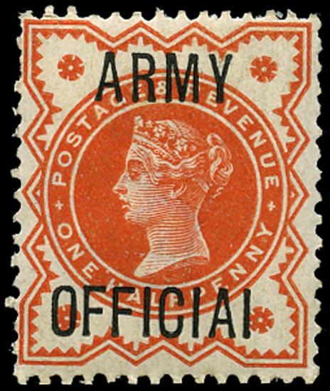 GB 1896  SGO41a Official (Army Official)