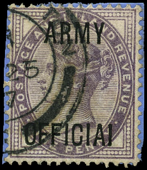 GB 1896  SGO43a Official (Army Official)
