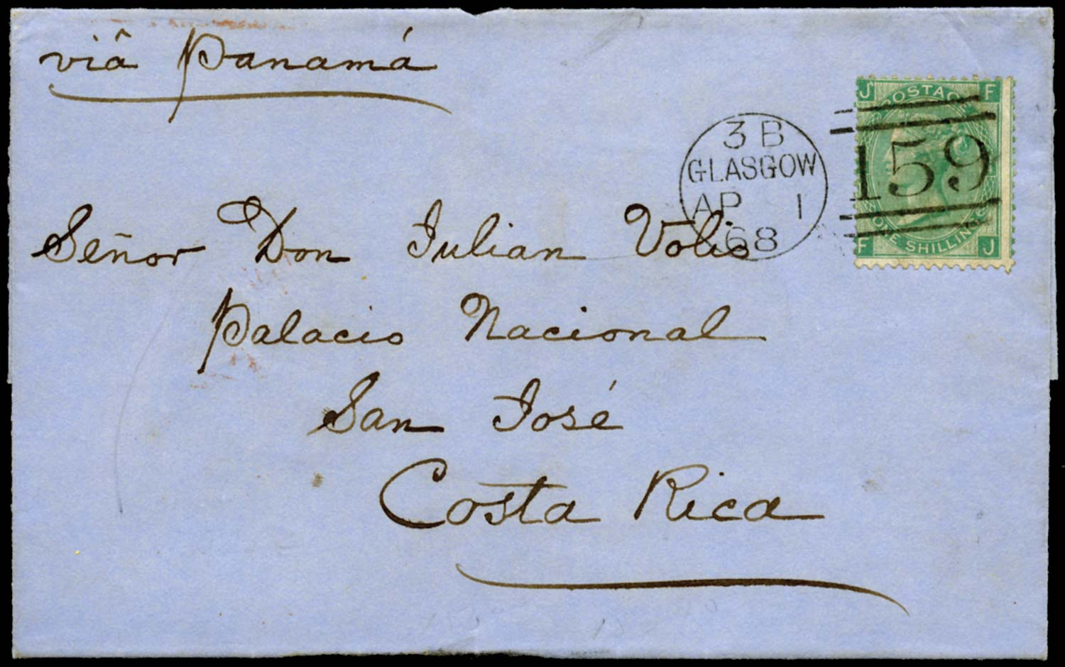 GB 1868  SG117 Pl.4 Cover