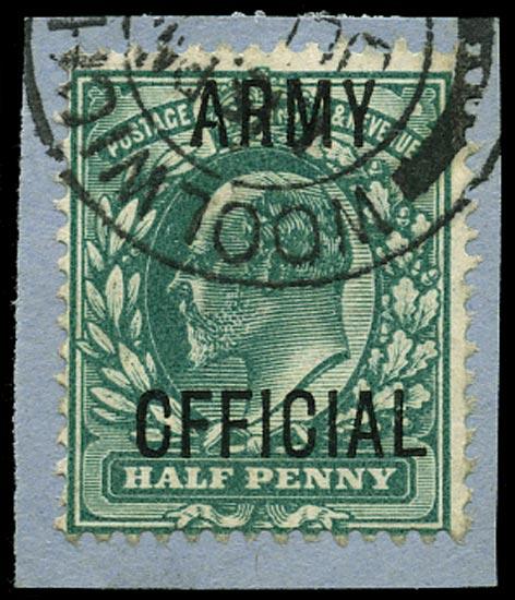 GB 1902  SGO48var Official (Army Official)
