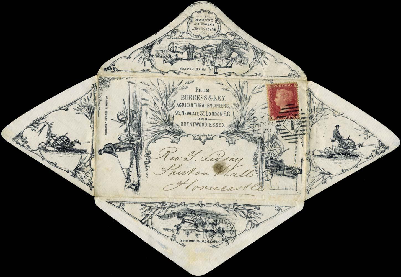 GB 1861  SG40 Cover - Advertising envelope
