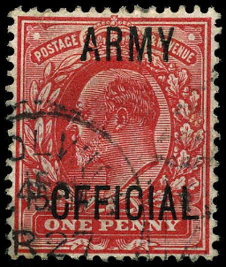 GB 1902  SGO49var Official (Army Official)