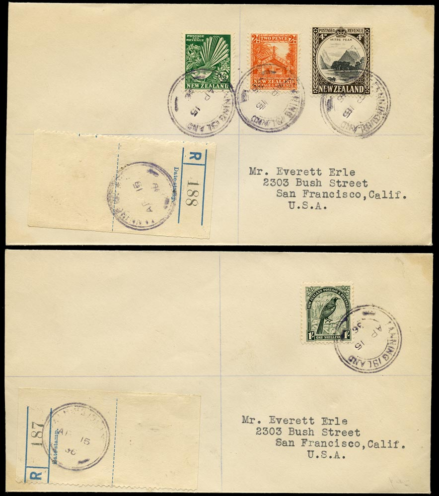 GILBERT & ELLICE IS 1936 Cover from Fanning Island bearing NZ stamps
