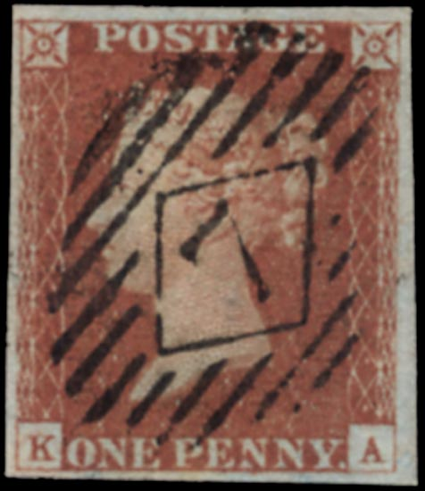 GB 1841  SG8 Pl.74 Used London numeral (KA)