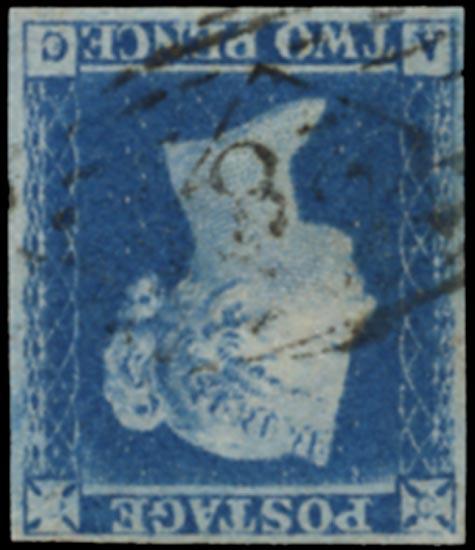 GB 1841  SG14wi Pl.4 Used (Wmk Inverted) VFU numeral cancel (AC)