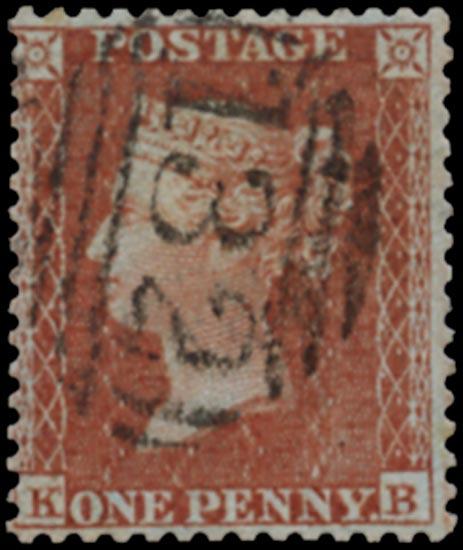 GB 1855  SG24 Pl.3 Used Brighton numeral (KB)