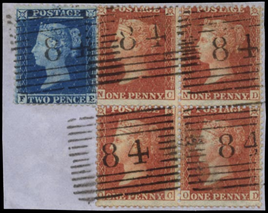 GB 1856  SG29/35 Used Piece, Creetown numerals