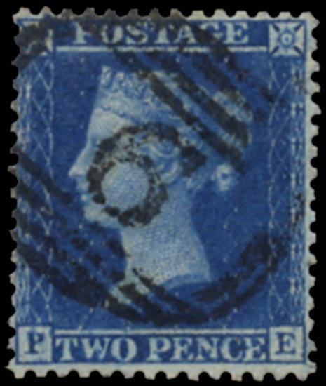 GB 1857  SG35var Pl.6 Used Alfreton numeral, re-entry (PE)