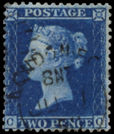 GB 1857  SG35 Pl.6 Used London E.C. cds (CC)