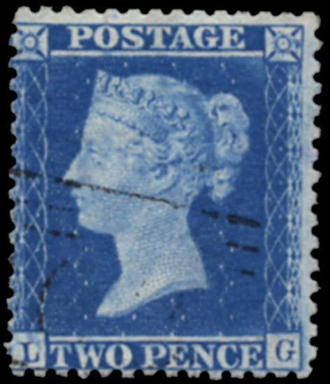 GB 1857  SG35var Pl.6 Used constant variety, Scottish numeral
